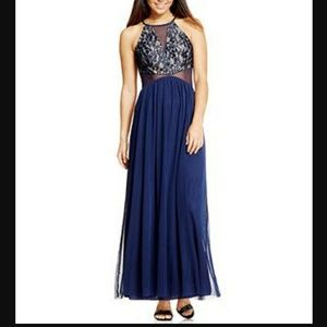 Teeze Me Dresses & Skirts - Navy Blue sequined formal gown  (juniors size 11)