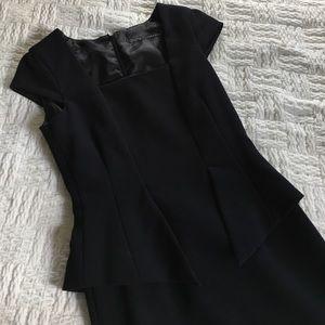 Zara Dresses & Skirts - Zara Basic Black Side Peplum Midi Dress