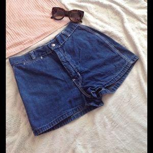 Vintage Pants - Vintage 90s High Waisted Denim Mom Jean Shorts