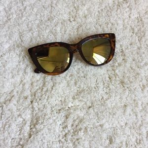 Quay rhymes tortoise mirrored cat eye sunglasses