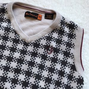 Ben Sherman Other - Boys Ben Sherman Brown & Tan Sweater Vest Sz 5-6