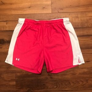 Under Armour Pants - Under Armour Pink Athletic Shorts