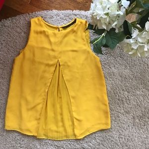 Chiffon yellow top ZARA