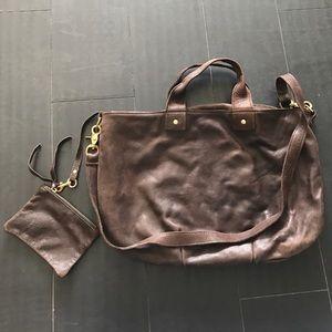 Clare Vivier Leather Messenger Bag