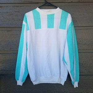 Vintage 90s Striped Oversized Sweatshirt