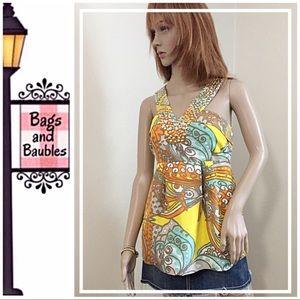 KATE SPADE Embellished Silk Top, Size 6
