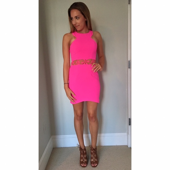 f94b9ba591b Neon Pink Cocktail Dress. M 58e969b8f739bc95770076e0