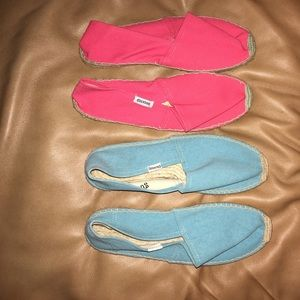 Soludos Shoes - Pink and Sea blue Soludos. Bundle.