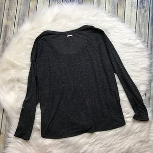 Victoria's Secret Tops - Victoria's Secret Grey Loose Fit Henley