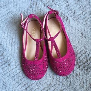Link Other - NWOT Magenta faux suede rhinestone dress shoes