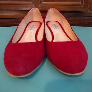 Nisolo Shoes - Red Suede Nisolo Mendez flats