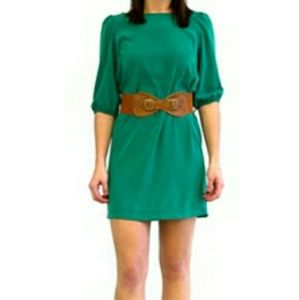 Little Miss Dresses & Skirts - Dark Green Dress