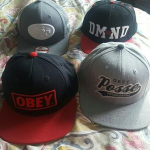 Obey Other - Snap back hat Bundle