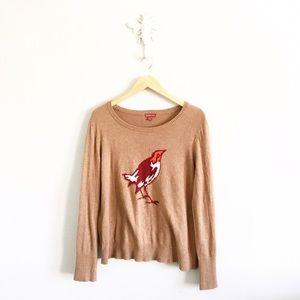Merona Sweaters - Merona Novelty Print Bird Sweater