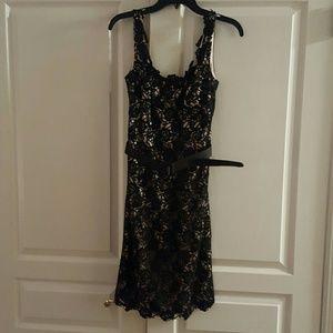 JS Boutique Dresses & Skirts - JS Boutique lace cocktail dress and belt.