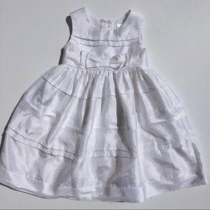 Cherokee White Satin Dress