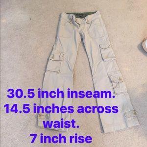 molecule Pants - NWOT khaki cargo pants - small