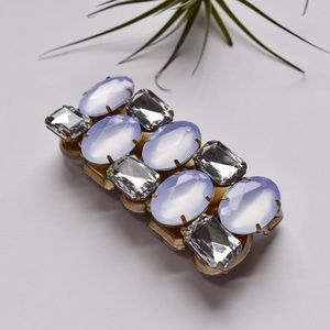 Banana Republic Jewelry - White &a Silver Stretch Bracelet