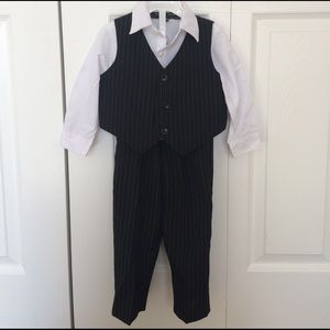 Andrew Fezza Other - Boy's Striped Black Suit