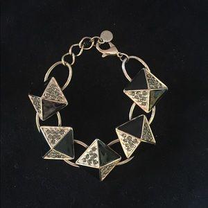 Simply Vera Vera Wang black & gold pyramid braclet