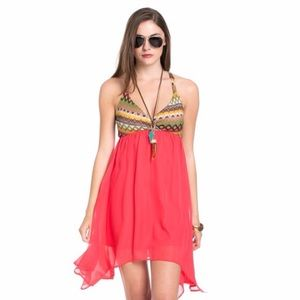 Boutique Dresses & Skirts - Coral Tribal Dress
