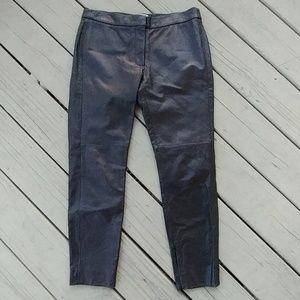 "Pants - CRIPPEN SOFT LAMB LEATHER SIZE 4 length 34"""