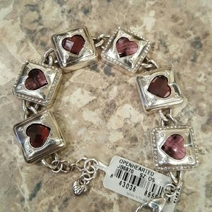 Brighton Jewelry - Beautiful Brighton heart link bracelet