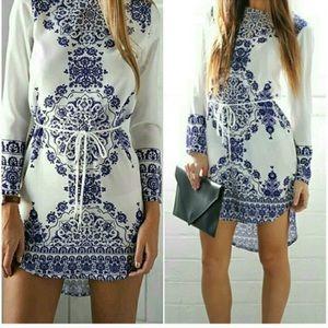 OASAP Dresses & Skirts - Grecian Print High Low Dress