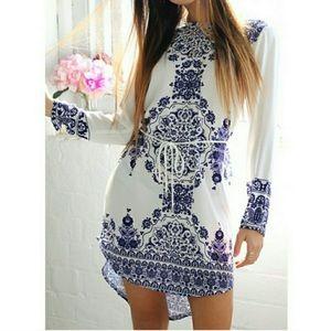 OASAP Dresses & Skirts - Grecian Print Dress
