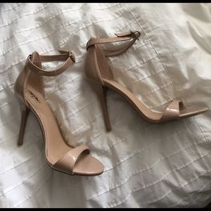 Shoes - Nude heels with ankle strap