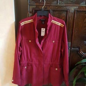 Lane Bryant Jackets & Blazers - NWT - Lane Bryant military style jacket