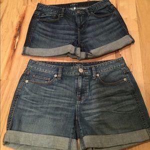 (2) LOFT denim shorts
