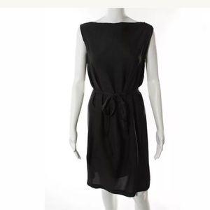 Rick Owens Dresses & Skirts - Rick Owens Brown Silk Sleeveless Belted Dress Sz 8