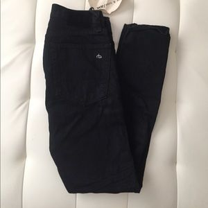 New With Tags Rag & Bone High Waisted Black Jeans
