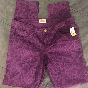 Aeropostale purple print jeans size 11/12