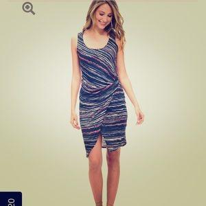 Splendid Dresses & Skirts - Splendid Sandstone Print Bodycon Navy Dress