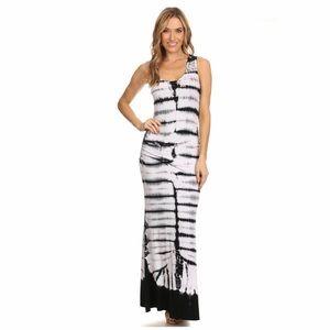 Dresses & Skirts - Tie Dye Rib Knit Tank Maxi Dress