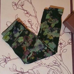 Active Life Pants - Reversible active life workout capri floral gray s