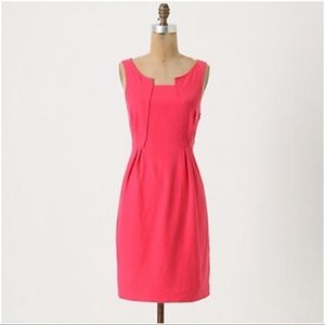 Anthropologie Dresses & Skirts - Anthropologie pink Panels and Pleats dress