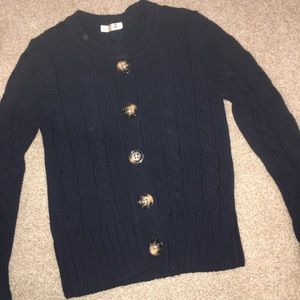 New Old Navy Blue Cable Knit Sweater Size Small