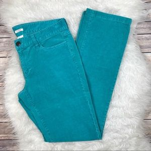 J. Crew Factory Pants - J. Crew Factory Matchstick Turquoise Corduroys