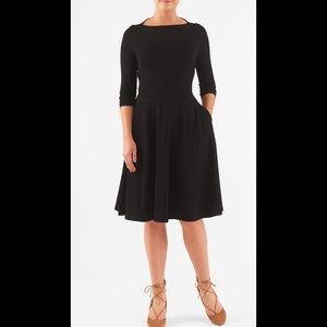 eshakti Dresses & Skirts - New Eshakti Retro Black Fit & Flare Dress 18W