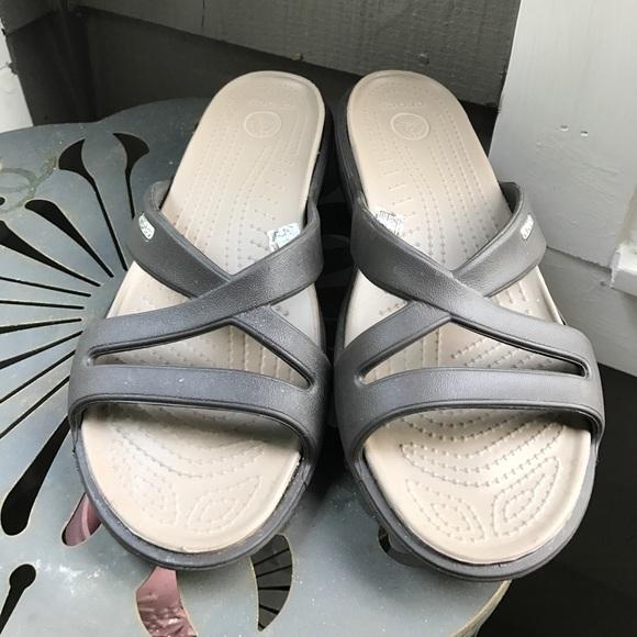 7b5f9d4cab7a CROCS Shoes - Crocs women s Patricia II wedge sandals