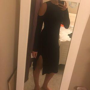 Open shoulder midi dress