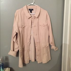 denim & co Jackets & Blazers - Adorable tan utility jacket. NWOT