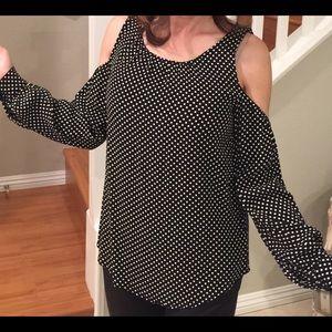 Philosophy Cold shoulder long sleeve shirt