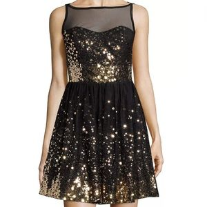 Crystal Doll Dresses & Skirts - Black Sequin Sheath Dress