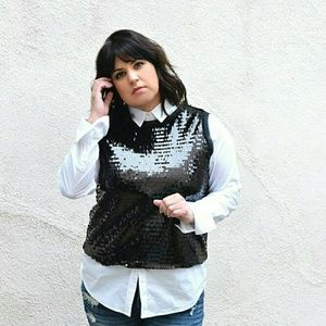 WHO WHAT WEAR Tops - WHO WHAT WHERE sequin top