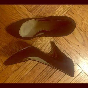 Coach suede black heels!