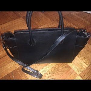 alberta di canio Handbags - Alberta di Canio large black leather bag w/ strap!